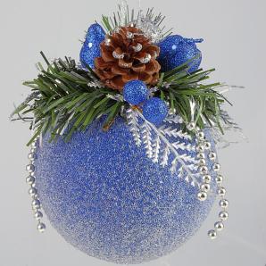 Декорирование ёлочных шаров своими руками